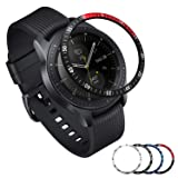[Aluminum] Galaxy Watch 46mm Bezel Styling, Galaxy Gear S3 Frontier & Classic Bezel Ring Adhesive Cover Anti Scratch Aluminium Protection Tachymeter, Design for The Galaxy Watch Accessories - BRD (Color: Aluminum 46mm BRD)