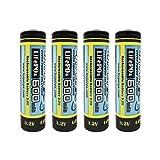(4-Pack) HyperPS 3.2V AA 600mAh Rechargeable Battery for Solar Panel Light, Tooth Brush, Shaver, Flashlight