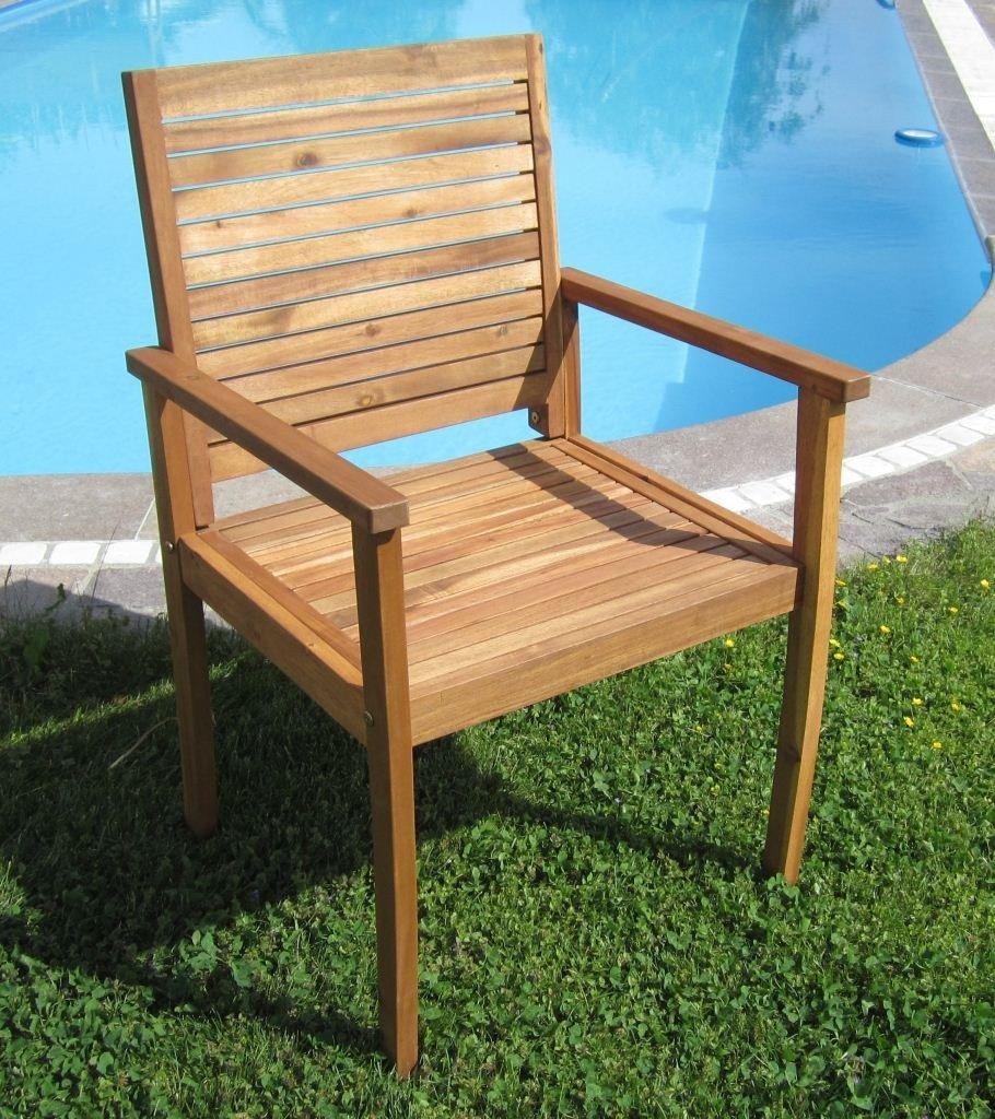 Design Gartensessel Gartenstuhl Sessel Holzsessel Gartenmöbel Holz Akazie wie Teak SARIA von AS-S günstig online kaufen