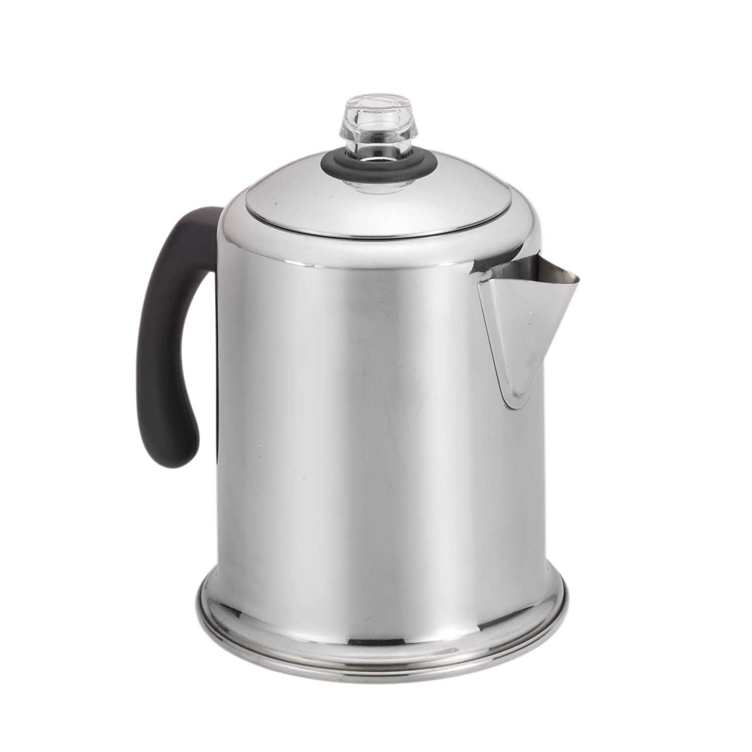 Farberware s steel 8 cup coffee maker percolator stove top for Best coffee percolator