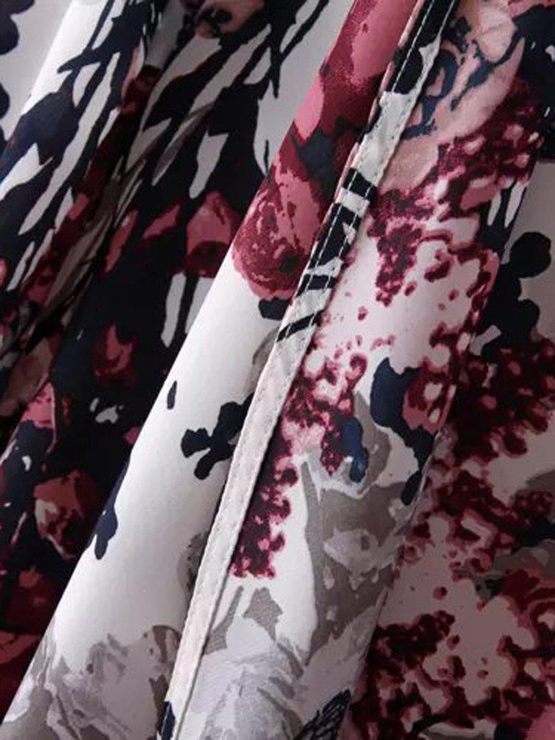 Choies Women's Chiffon Floral Kimono Loose Kimono Cardigan Blouse 5