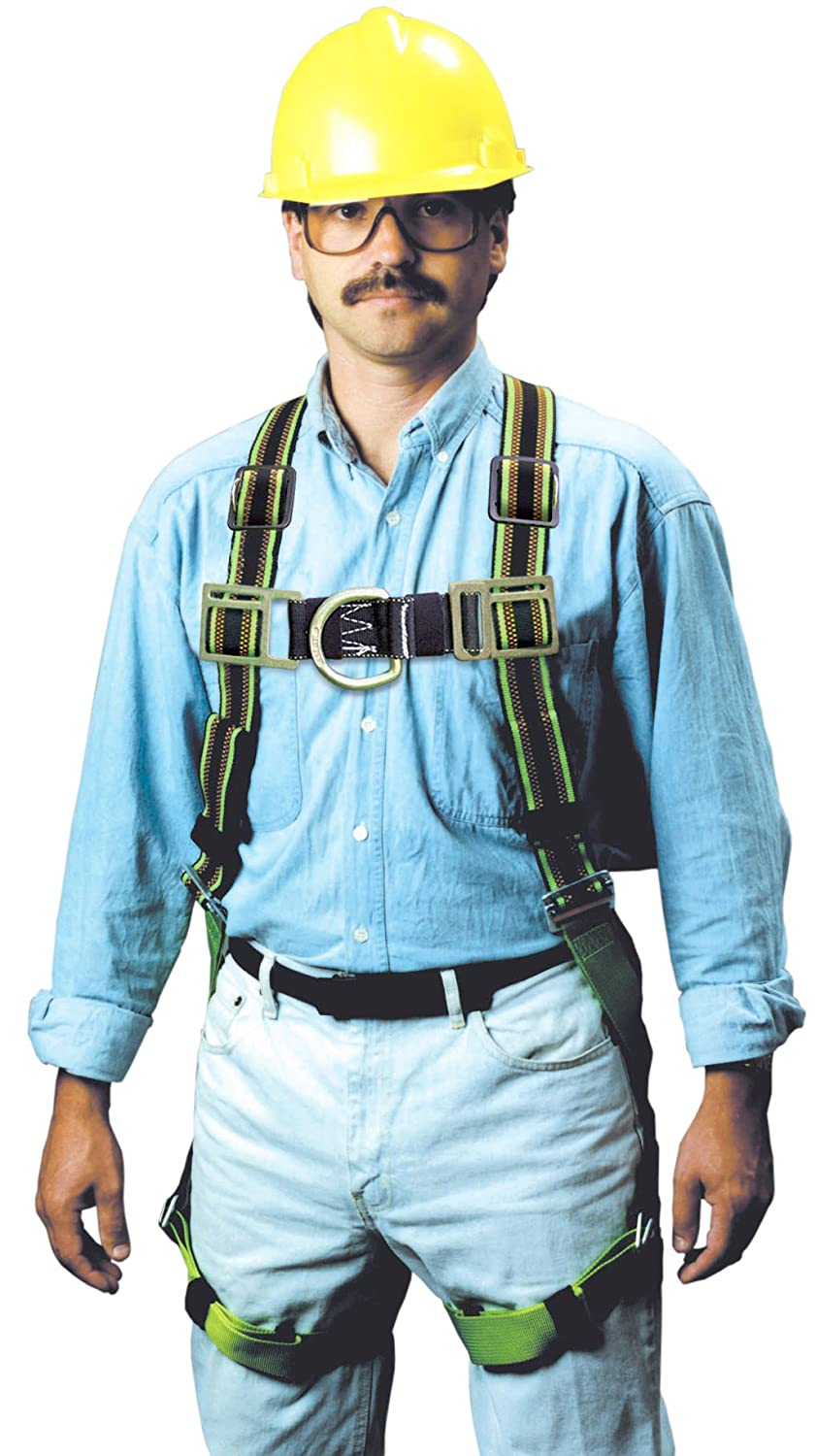 Miller by Honeywell E650FDQC-58/UGN DuraFlex Ultra Stretchable 650 Series Full-Body Harness with tongue Buckles miller titan by honeywell ac qc xsbl aircore full body harness x small blue