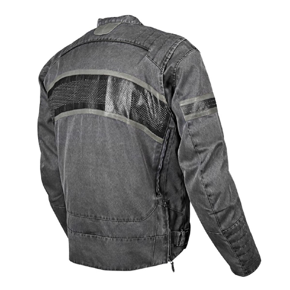 Speed and Strength Cruise Missile Men's Motorcycle Textile/Leather Jacket (Vintage Black, Large) 1