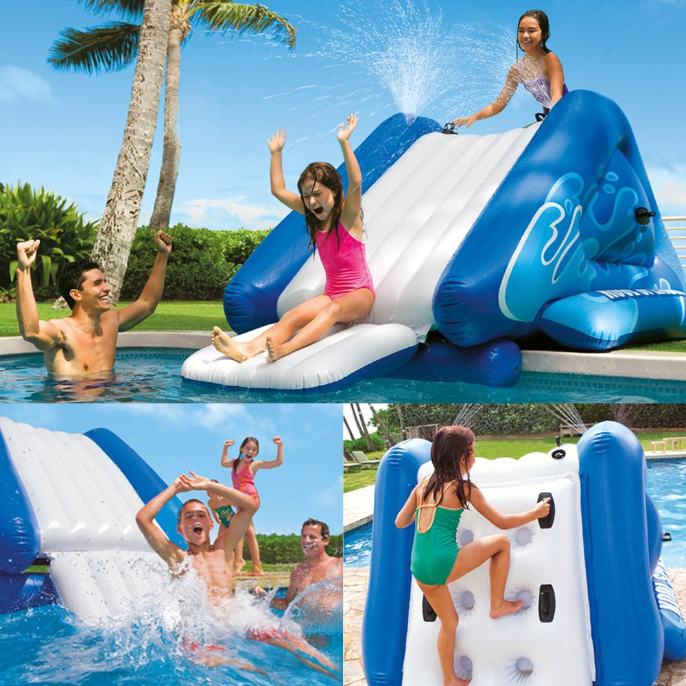 Inflatable water slide swimming pool commercial bounce for Swimming pool slides