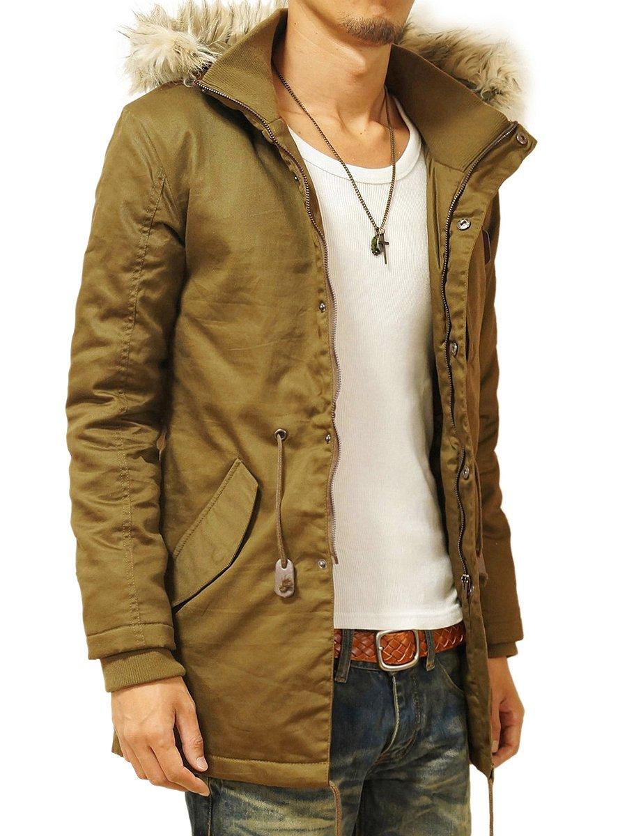 (ヘッドルーム) headroom ミリタリージャケット メンズ ファーフード 中綿 ツイルジャケット モッズコート