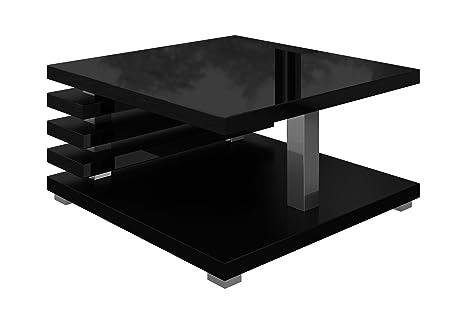 Tavolino da salotto Oslo 60 x 60 cm (Nero lucido)