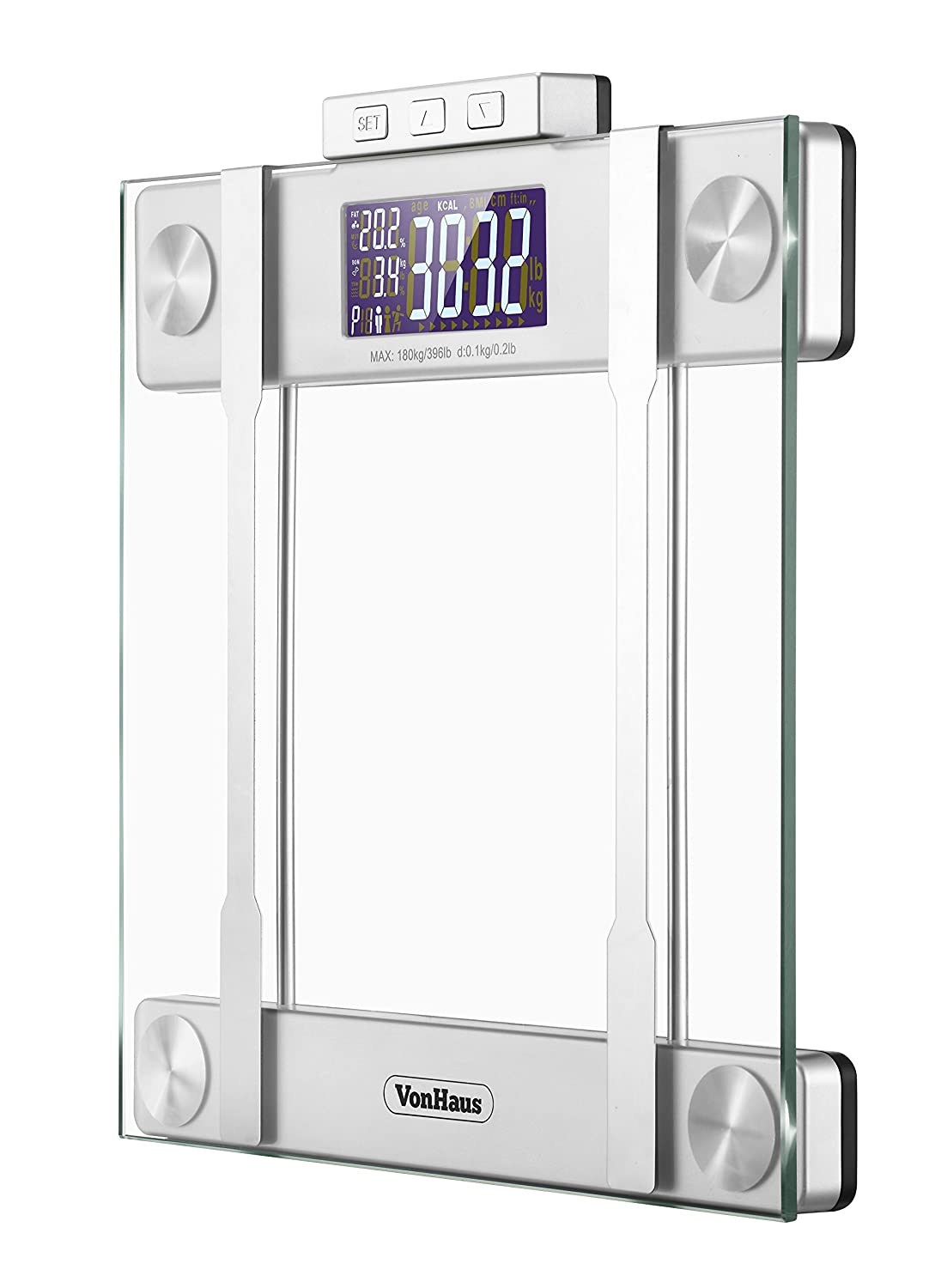 Vonhaus Digital Glass Body Fat Scale Best Digital Scales