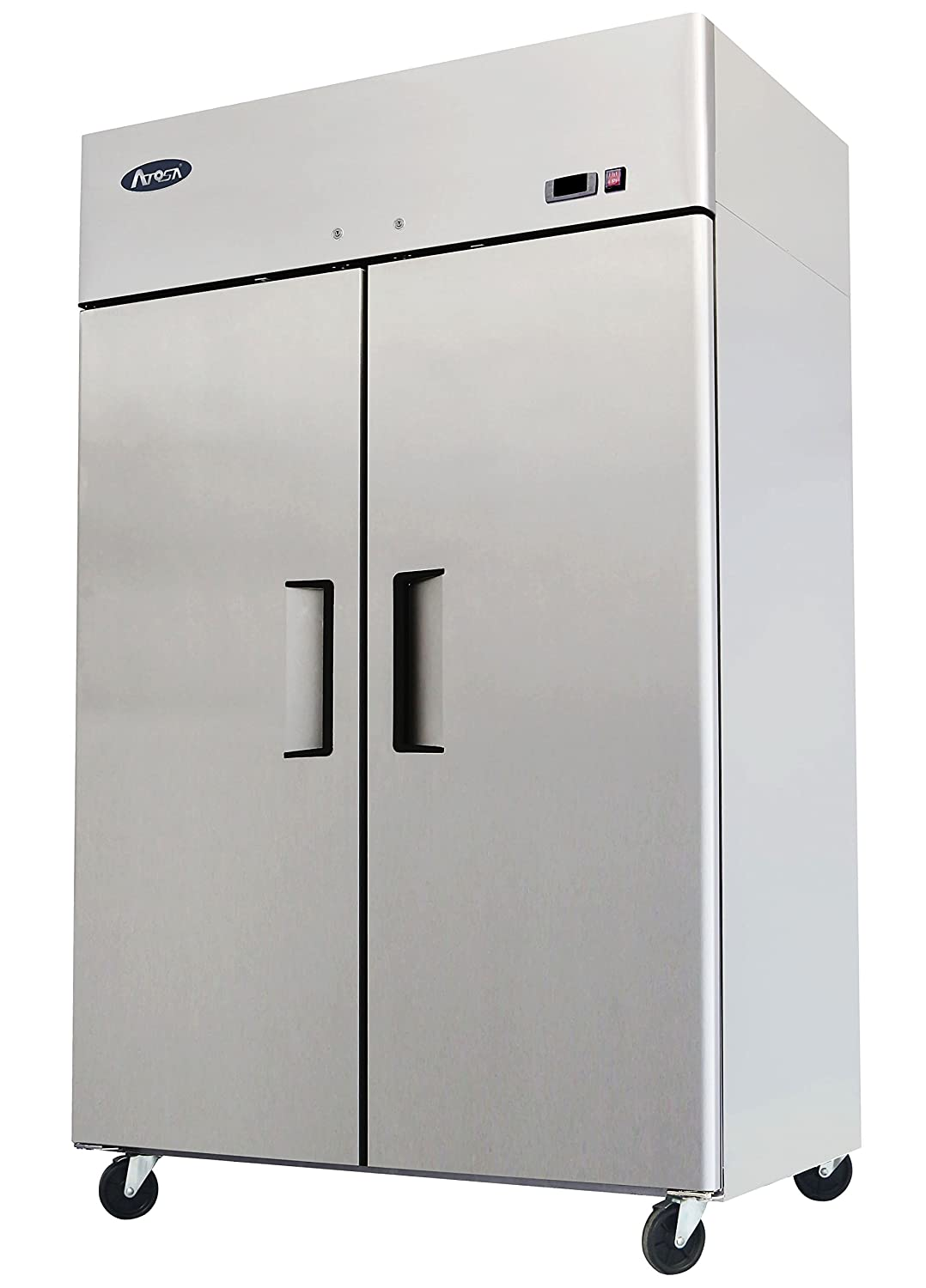 "JW 52"" Double 2 Door Stainless Steel Side By Side Reach in Commercial Refrigerator"