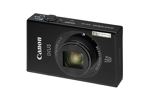 """Canon Ixus 510 HS Appareil photo numérique compact 10,1 Mpix Écran LCD 3,2"""" Zoom optique 12X Noir"""