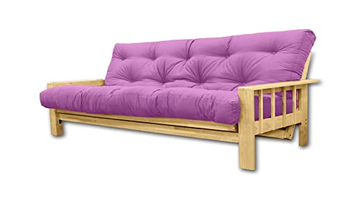 Convertible Bifold, futon violet, 207x100x30 cm
