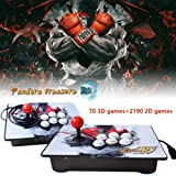 PinPle Arcade Game Console 1080P 3D & 2D Games 2260 2 in 1 Pandora's Box 3D 2 Players Arcade Machine with Arcade Joystick Support Expand Games for PC / Laptop / TV / PS4 (Pandora's Box) (Color: Pandora's Box)