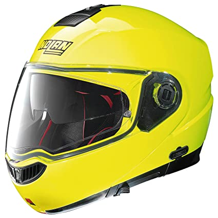 Nolan n 104 aBSOLUTE hI-vISIBILITY n-cOM casque flip-up couleur :  jaune-dimensions :  3XL