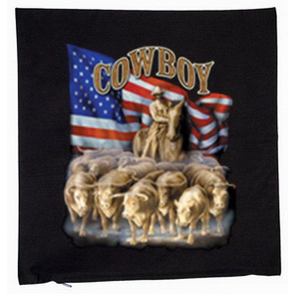 USA Cowboy Deko Kissen mit Füllung Farbe: schwarz Größe: 40x40cm jetzt kaufen