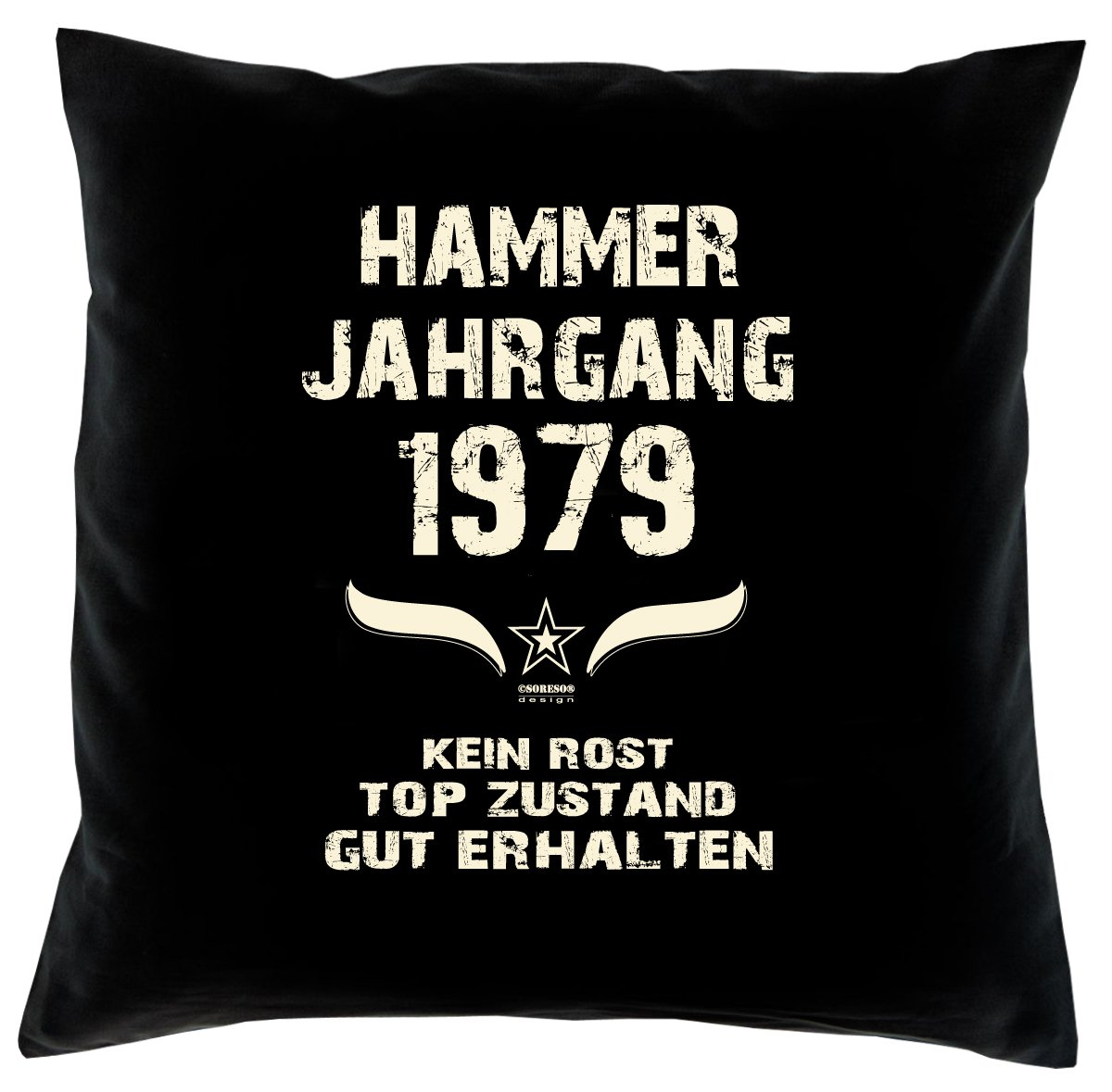 Cooles – Fun – Kissen – Sitzkissen – Zum 37. Geburtstag – Hammer Jahrgang 1979 Farbe: Schwarz – Größe: 40 x 40 cm jetzt bestellen