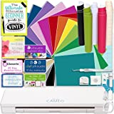 Silhouette CAMEO 3 Bluetooth Deluxe Vinyl Starter Bundle with 12x12 Vinyl Sheets, Transfer Paper, Guide, Class, Tools, and More
