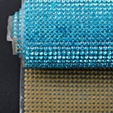 Hisenlee Boutique Rhinestone Decorative Stickers (24X40CM Hot Melt Crystal Crystal Rhinestone DIY Clothes, Shoes, Car, Mobile Phone Case) (Aquamarine) (Color: Aquamarine)
