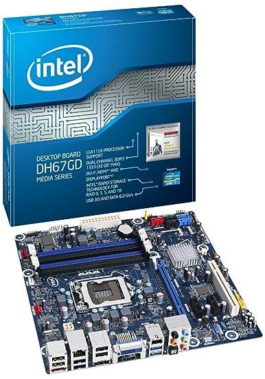 Intel Desktop Board DH67GD Media Series Carte-mère micro ATX LGA1155 Socket H67 USB 3.0, FireWire Gigabit Ethernet carte graphique embarquée (unité centrale requise) Audio HD (10 canaux)