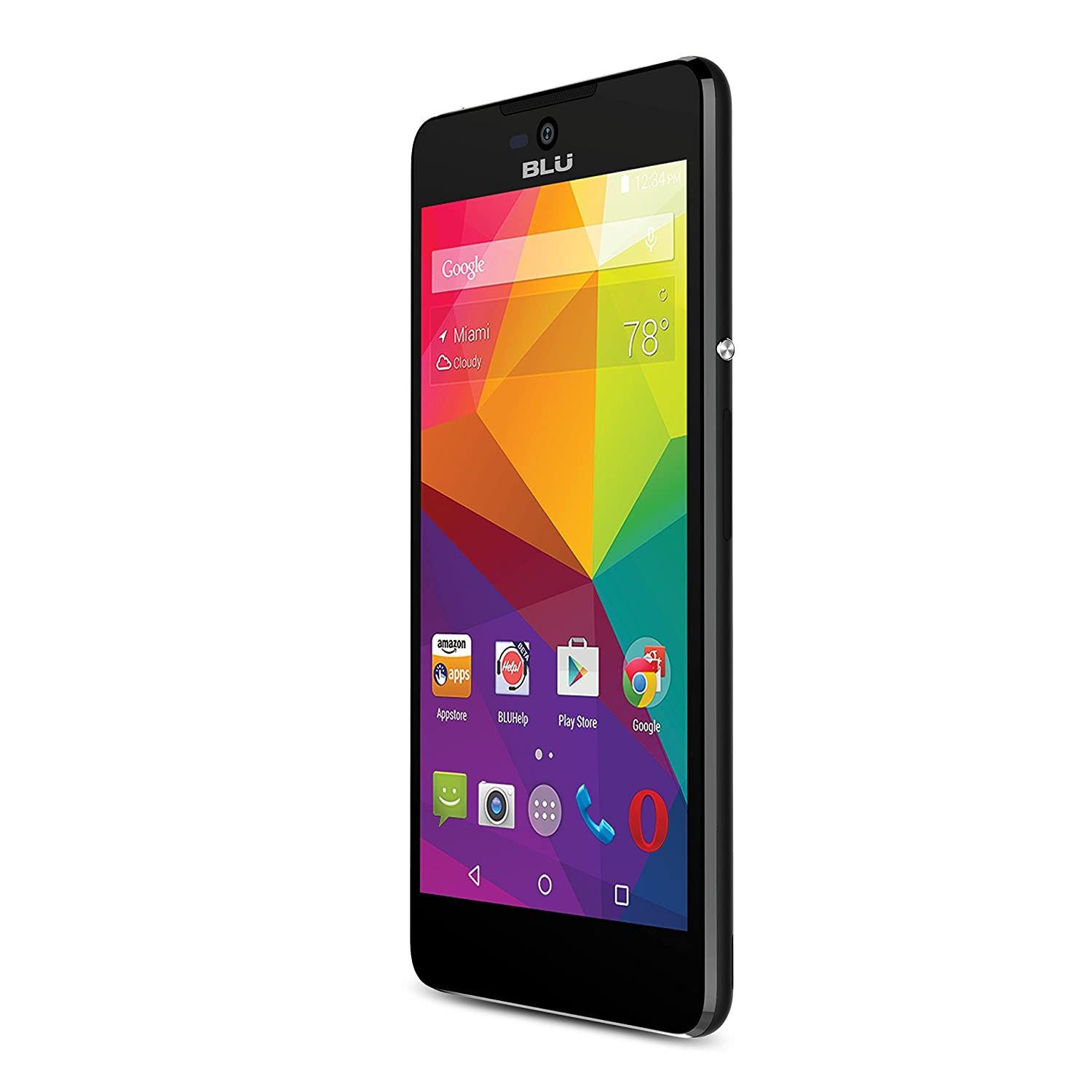 BLU Studio C 5+5 Smartphone with Lollipop OS- US GSM Unlocked - Black