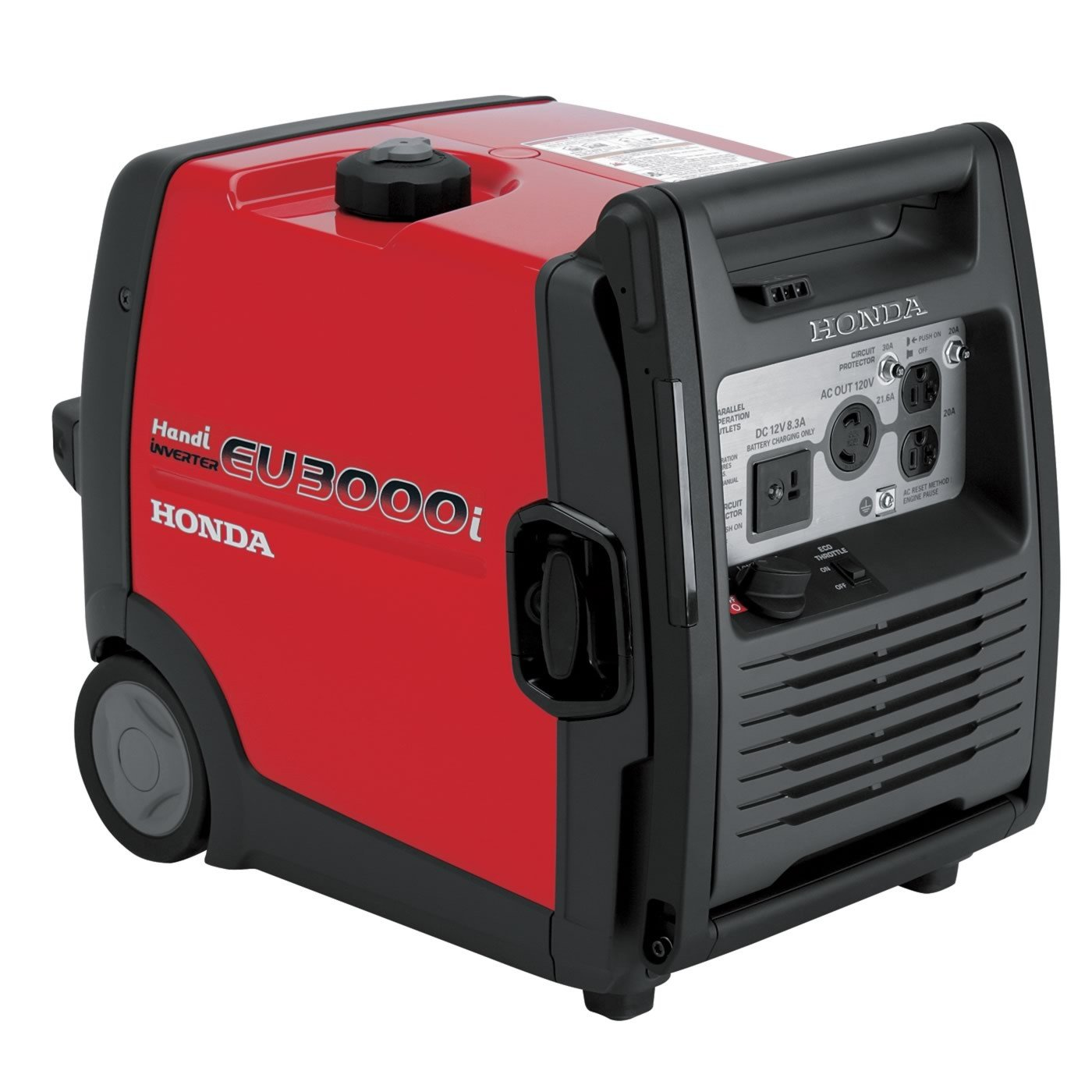 best portable inverter generator 3000 watts - honda eu3000i handi