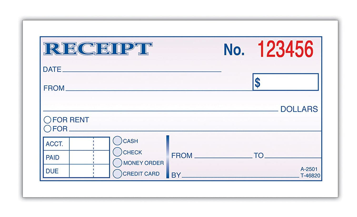 rental receipt form – House for Rent Template
