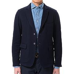 m's braque Seersucker Jersey Jacket: Navy