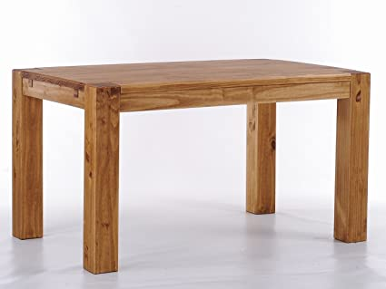 Brasil Rio Kanto '208 x 90 x 78 cm Solid Pine Wood – Furniture Dining Table Colour: Brazil
