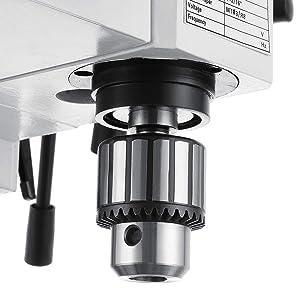 Mophorn Mini Milling Machine 2500RPM 550W Mill Drill Machine Variable Speed 7Inch Headstock Travel Micro Milling Drilling Machine 12mm T Slot Metal Gears (550W Milling Machine) (Color: 550W Milling Machine)