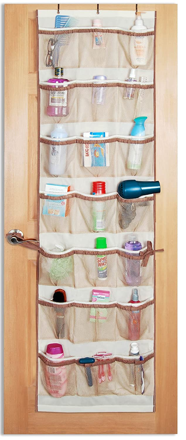 Pro-Mart DAZZ 42-Pocket Over-the-Door Organizer, Beige – Closet Storage And Organization Products