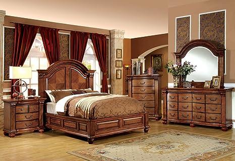 Dresser in Tobacco Oak by Furniture of America # CM7738D