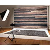 7x5 ft Retro Wood Wall Photo Backgrounds Brown Wooden Photography Backdrops Wrinkle free Seamless Cotton Cloth (Color: wood_1, Tamaño: 7x5ft)