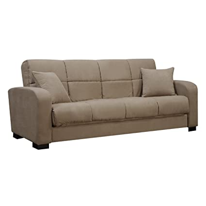 Handy Living C1-S1-AAA85 Damen Microfiber Convert-a-Couch, Mocha