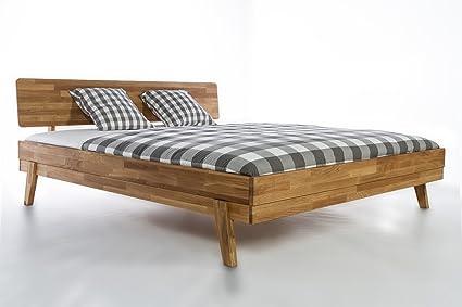Massivholzbett Milano Doppelbett Bett Massiv Wildeiche NEU OVP (180x200)
