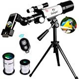 Gskyer AZ60350 Travel Refractor Astronomy Telescope with Wireless Remote Control (Tamaño: AZ60350)