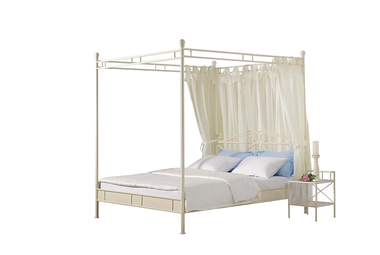 Modular ven140.32 Bett Venedig Metall, 140 x 200 cm, cremeweiß