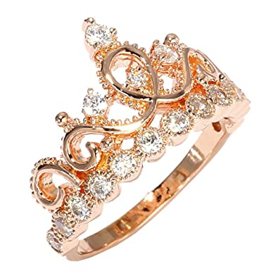 Showing Gallery For Rose Gold Crown RingGold Princess Crown