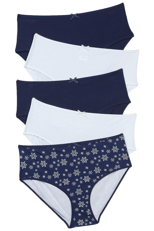 Ulla Popken Damen große Größen Slips, 5er-Pack 701552 kaufen