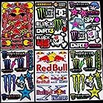 6 Sheets Motocross stickers kpp# boys...