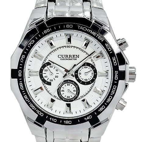 CURREN-New-Quartz-Hours-Stainless-Steel-Water-Resistant-Men-Analog-Leisure-Wrist-Watch