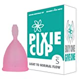 Ranked 1 for Most Comfortable Menstrual Cup and Better Removal Stem Than Diva Cup - Every Cup Purchased One is Given to a Woman in Need! (Small) (Tamaño: Small)