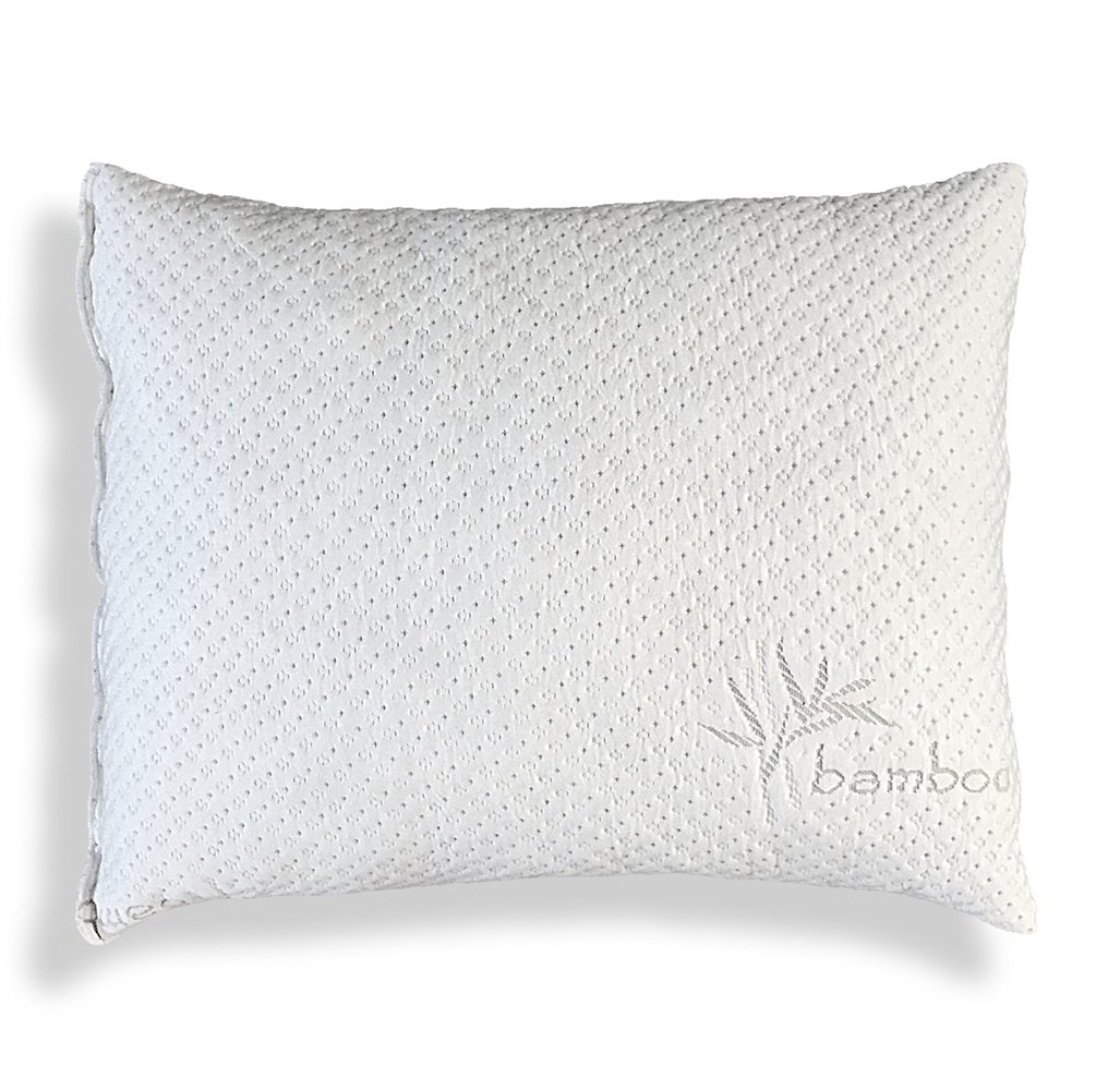 Shredded Memory Foam Pillow With Kool-Flow Micro-Vented Bamboo Cover