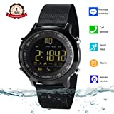 Smart Watch Waterproof Bluetooth Smartwatch Sports Smart Watches for Men Women Boys Kids Android iOS iPhone X 8 7 6 Samsung Huawei with Pedometer Fitness Tracker SMS Call Reminder (Black Steel) (Color: Black steel)