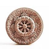 Sakyamuni Buddha Mantra Silicone Soap Mold Craft Candle Resin DIY Mold Round (Color: Random)
