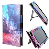 TsuiWah Case for All-New Amazon Fire 7 Tablet with Alexa - Vertical/Horizontal Stand Vegan Leather Cover Case with Auto Wake/Sleep for Fire 7(7th Gen, 2017 Release/5th Gen, 2015 Release),Galaxy Sky (Color: 2-5-Galaxy Sky, Tamaño: fits Fire 7 (2017 and 2015 Release))