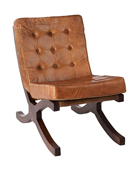 J-Line Home Seat Relax Cue/Mad Conac 51x 86x 78cm Brown
