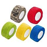 24Pcs Disposable Cohesive Tattoo Grip Wrap Covers Roll Elastic Bandages Tube Tape (Tamaño: 24PCS)