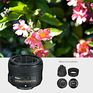 Nikon AF-S NIKKOR 50mm f/1.8G Lens W/Deluxe Accessory Bundle, 58mm Wide-Angle & Telephoto Lens +3pc Filter Kit + Xpix Professional Cleaning Kit