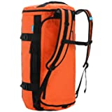 MIER Large Duffel Backpack Sports Gym Bag with Shoe Compartment, Heavy Duty and Water Resistant, Orange, 60L (Color: Orange, Tamaño: 60L)