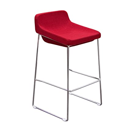 Diamond Sofa A98STRE Contemporary Bar Stools With Chrome Base - Red, 2 Pack