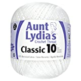 Aunt Lydia Value Crochet Cotton, White