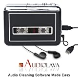 Rybozen Cassette Player Converter, Convert Tapes to Digital MP3 Portable Walkman with New Upgrade Convenient Software (AudioLAVA) (Color: Black and Silver, Tamaño: Small)